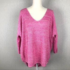 Express Pink Oversized Sweater Size Medium